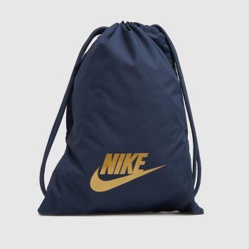Nike Navy & Gold Heritage 2.0 Gymsack Bags