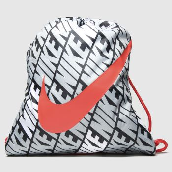 Nike Black & Grey Kids Printed Gym Sack c2namevalue::Bags