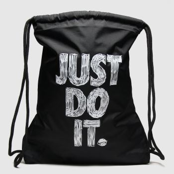 Nike Black & White Kids Graphic Gym Sack Bags