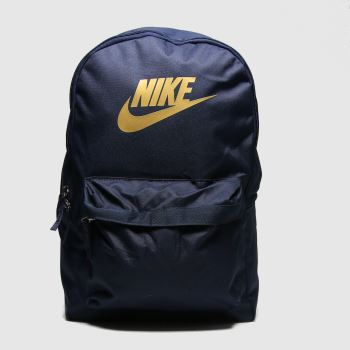 Nike navy & gold heritage 2.0 backpack