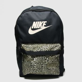 Nike Black & Brown Heritage Animal Backpack Bags
