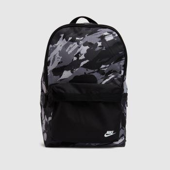 Nike Grey & Black Heritage Backpack Bags