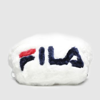 accessories fila white aussie faux fur bumbag