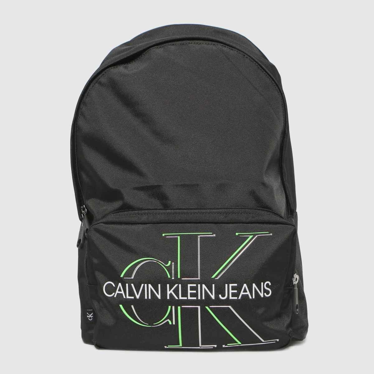 CALVIN KLEIN Black Campus Bp 43 Glow Backpack