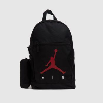 Nike Jordan Black & Red Kids Jordan Backpack & Case Bags