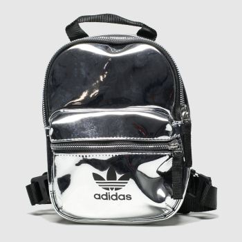 Adidas Silver Backpack Mini Metallic Bags