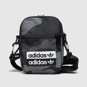 Adidas Grey & Black Vocal Camo Festival Bags