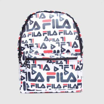 Fila White & Navy Arda 2 Bags