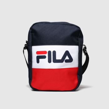 Fila Navy & Red Sheckles Flight Bag Bags