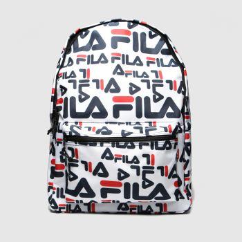 Fila White & Navy Riva Bags