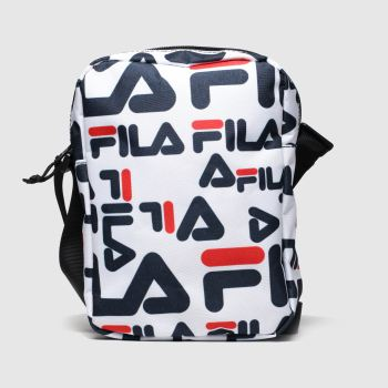 accessories fila white & navy stadio cross body