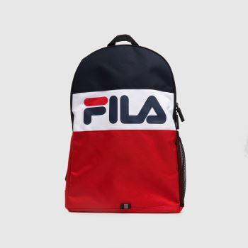 Fila Navy & Red Rodney Medium Backpack Bags
