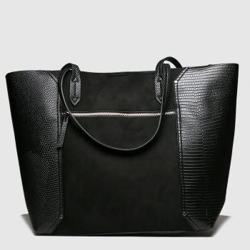schuh Black Jade Zip Front Tote Bags