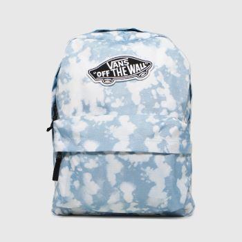 Vans White & Pl Blue Realm Backpack Bags