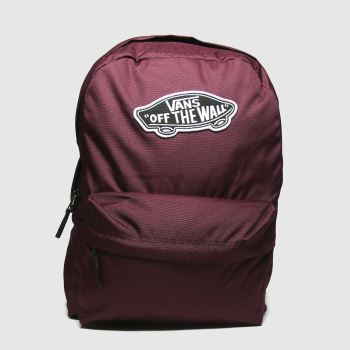 Vans Burgundy Realm Backpack Bags