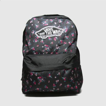 Vans Black and blue Realm Backpack Bags#