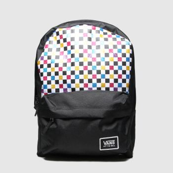 Vans Black & White Glitter Check Realm c2namevalue::Bags