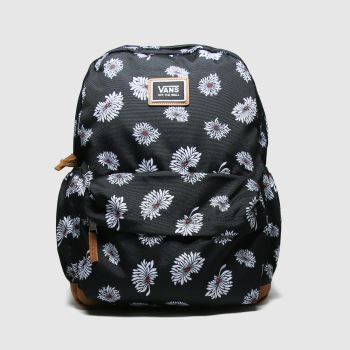 Vans Black & White Realm Plus Backpack Bags#