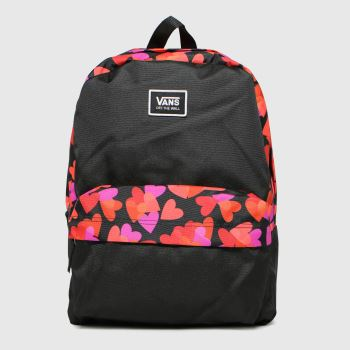 Vans Black & Red Realm Classic Backpack Bags