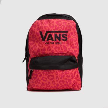 Vans Black & pink Kids Realm Backpack Bags
