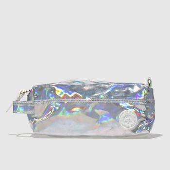 ACCESSORIES HYPE SILVER HOLOGPRAHIC PENCIL CASE