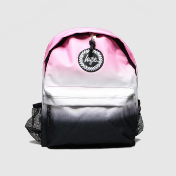 Hype Pink & Black Backpack With Bottle Holder c2namevalue::Bags