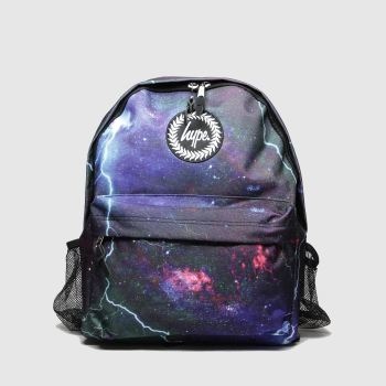 Hype Black & Purple Backpack With Bottle Holder Bags