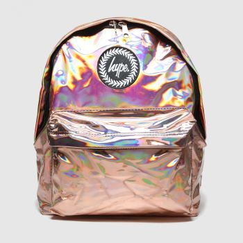 Hype Bronze Holographic Backpack Bags