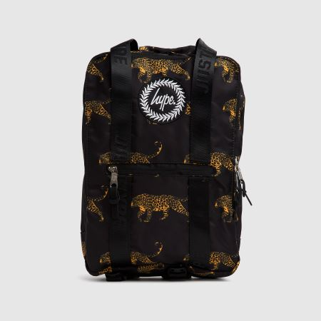 Hype Black Leopard Boxy Backpacktitle=