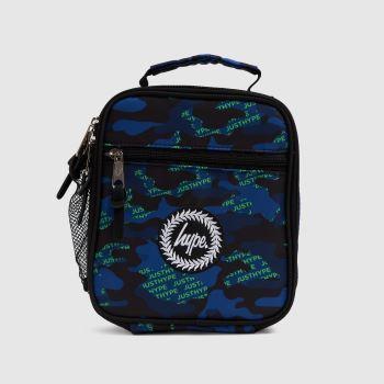 Hype Navy & Green Neon Logo Camo Lunch Bag Accessory