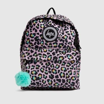Hype Pink & Black Disco Leopard Backpack Bags