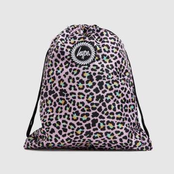 Hype Pink & Black Disco Leopard Drawstring Bag Bags