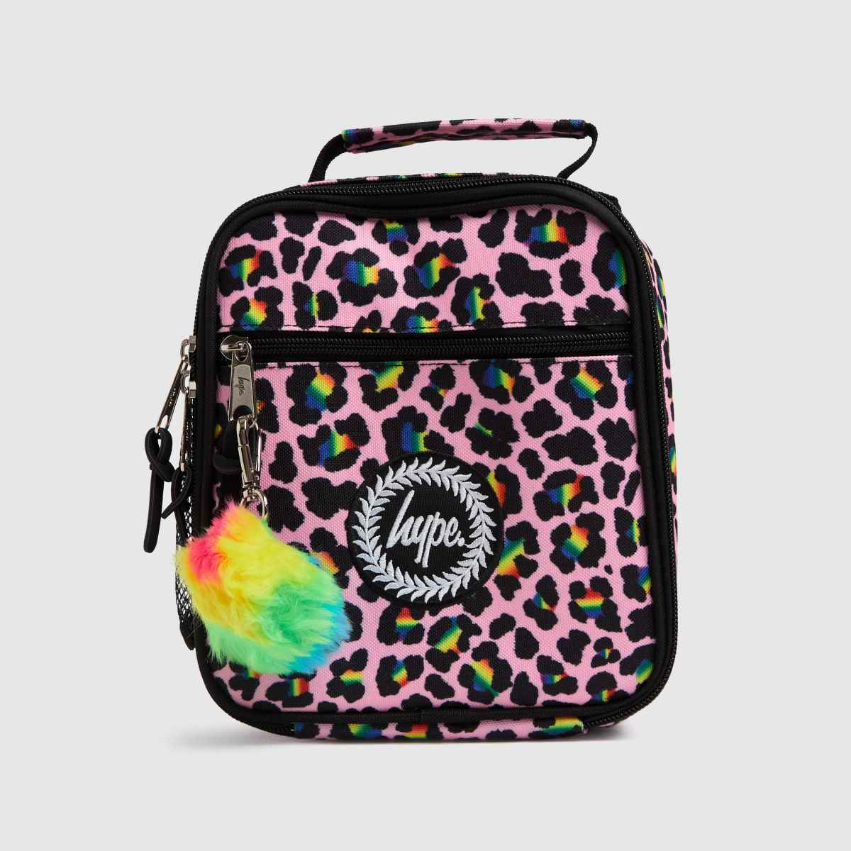 Hype Pink & Black Disco Leopard Luch Bag