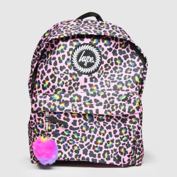 Hype Multi Rainbow Leopard Backpack Bags