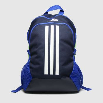 Adidas Navy & White Kids Power 5 Backpack c2namevalue::Bags