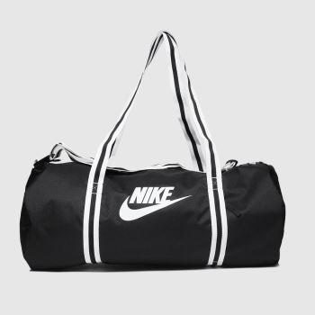 Nike Schwarz-Weiß Heritage Duffel Bag Taschen