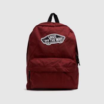 Vans Burgundy Realm Backpack Bags