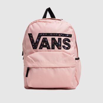 Vans Pale Pink Realm Flying V Backpack Bags