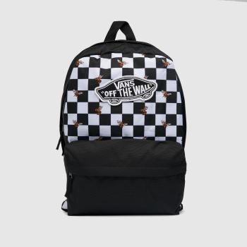 Vans Black & White Realm Backpack Bee Checker Bags
