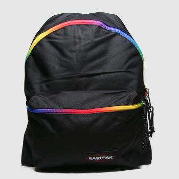 Eastpak Black & Orange Padded Pakr Bags