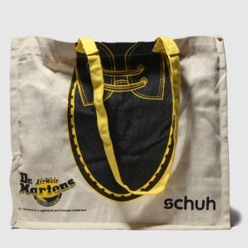schuh Black & White Dr Martens Reusable Jute Bags