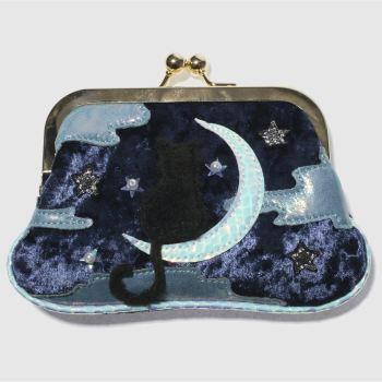 ACCESSORIES IRREGULAR CHOICE NAVY & PL BLUE STARRY PURSE