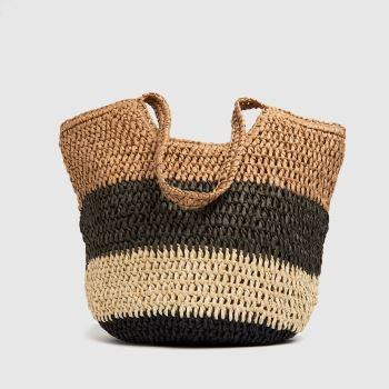 schuh Natural Juno Straw Tote Bags