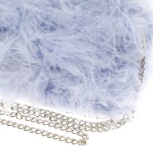 Missguided feather clutch bag 1