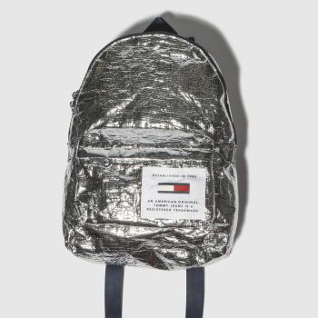 ACCESSORIES TOMMY HILFIGER SILVER TJ LOGO TAPE MED BACKPACK TP