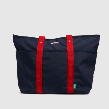Tommy Hilfiger Navy & Red Campus Tote Bag Bags