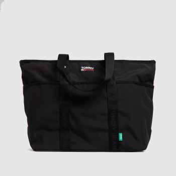 Tommy Hilfiger Black Campus Tote Bags
