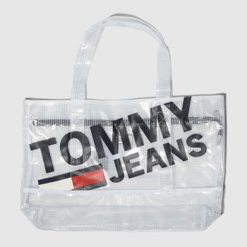 Tommy Hilfiger White Tj Summer Tote Mesh Bags