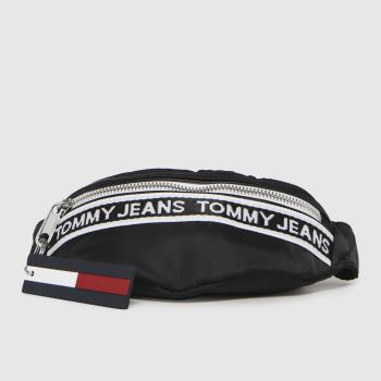 Tommy Hilfiger Black & White Mini Logo Tape Bumbag Nyln Bags