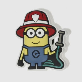 Jibbitz Yellow Minions Firefighter Shoe Accessories